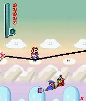 Screenshot of the Mario game for phone